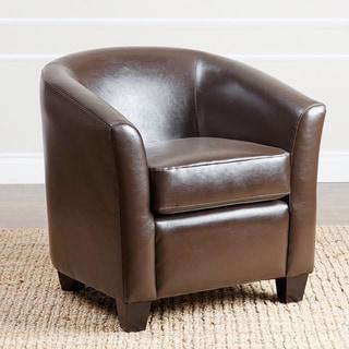 Abbyson Montecito Dark Brown Leather Armchair