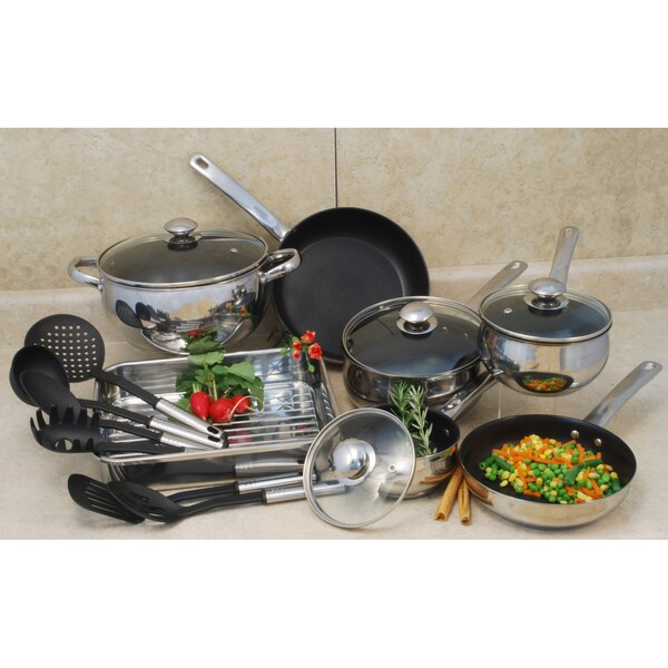 Stainless Steel 18-piece Cookware Set