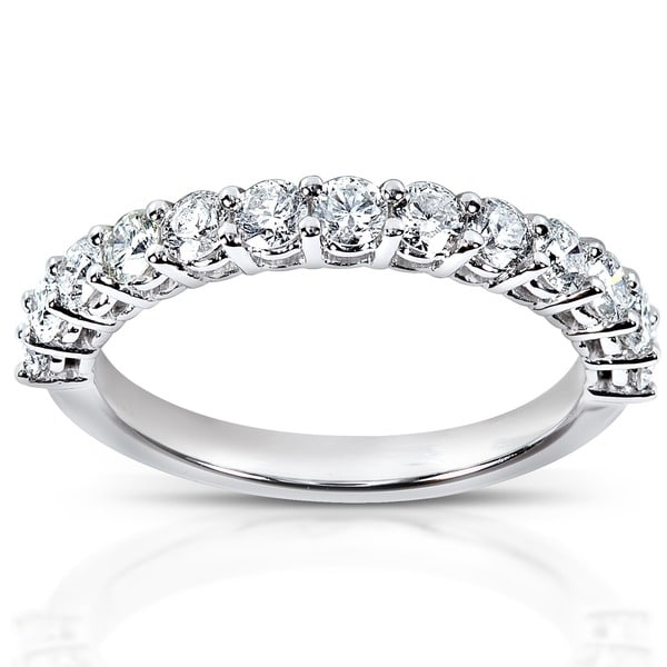 Annello 14k White Gold 3/4ct TDW Diamond Wedding Band (H-I, I1-I2)