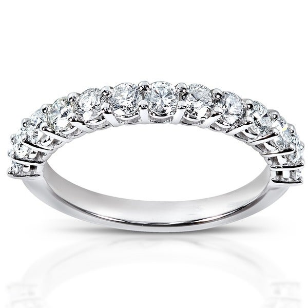 Annello by Kobelli 14k White Gold 3/4ct TDW Diamond Wedding Band
