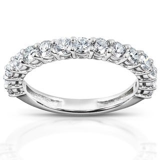 Link to Annello by Kobelli 14k White Gold 1 Carat TDW Women's Diamond Wedding Band Similar Items in Wedding Rings