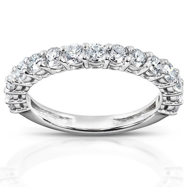 Annello by Kobelli 14k White Gold 1ct TDW Diamond Wedding Band (H-I, I1-I2)