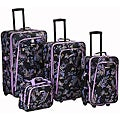 Rockland Garden Expandable 4-piece Luggage Set