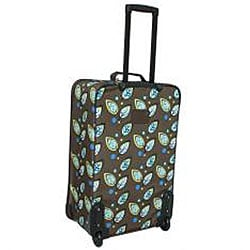 Rockland Expandable Brown Leaf 4-piece Luggage Set - Thumbnail 1