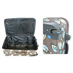 Rockland Expandable Brown Leaf 4-piece Luggage Set - Thumbnail 2