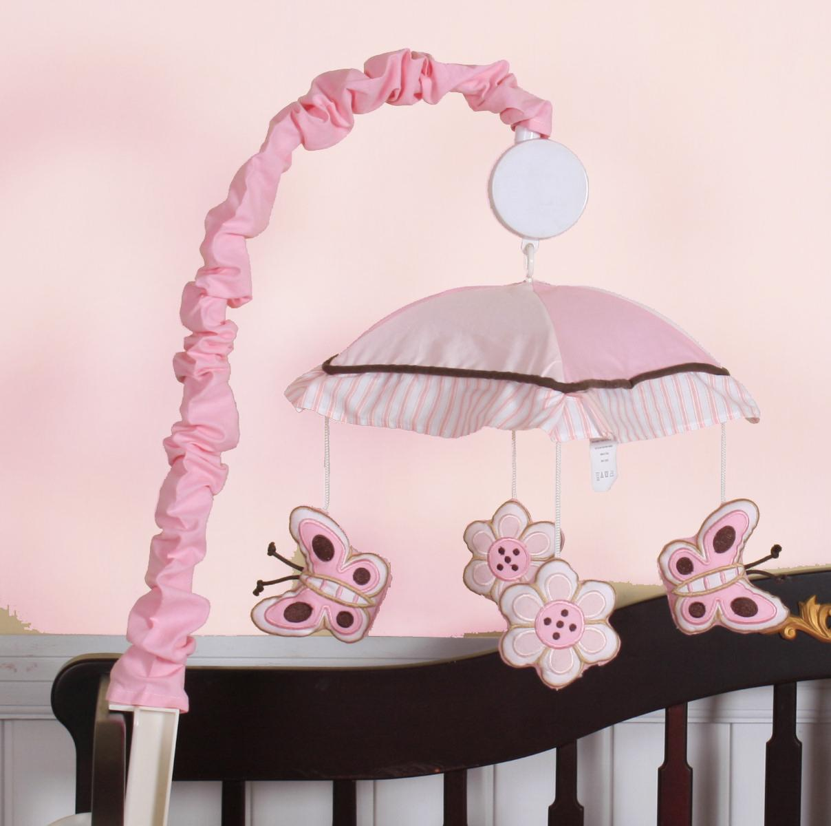 Geeny Pink Butterfly Musical Mobile (2032-Mobile)
