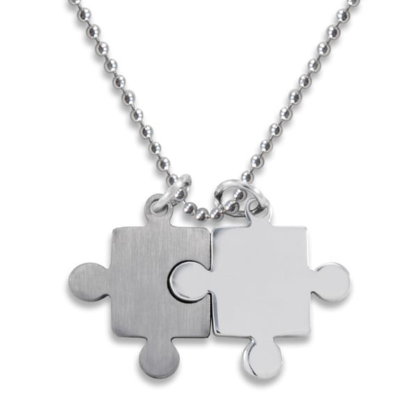 Shop stainless steel brushed polished puzzle piece necklace free stainless steel brushed polished puzzle piece necklace aloadofball Gallery
