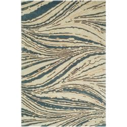 Handmade Thom Filicia Niagra Blue N.Z. Wool Rug - 9' x 12' - Thumbnail 0