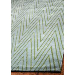 Exceptional Thom Filicia Griffith Park Sea Glass N.Z. Wool Rug (8u0027 X .