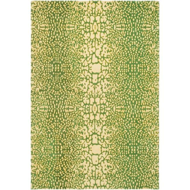 Handmade Thom Filicia Senica Maize New Zealand Wool Rug (5' x 8')