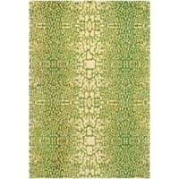 Handmade Thom Filicia Senica Maize New Zealand Wool Rug - 5' x 8'
