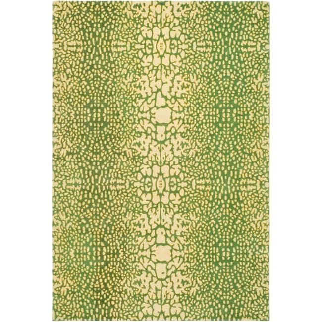 Handmade Thom Filicia Senica Maize N.Z. Wool Rug - 9' x 12'