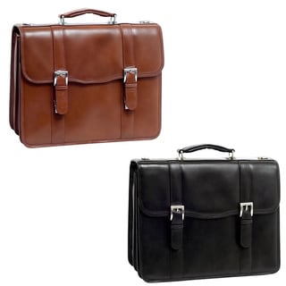 McKlein Flournoy Double-compartment Leather Laptop Briefcase (Option: Brown)