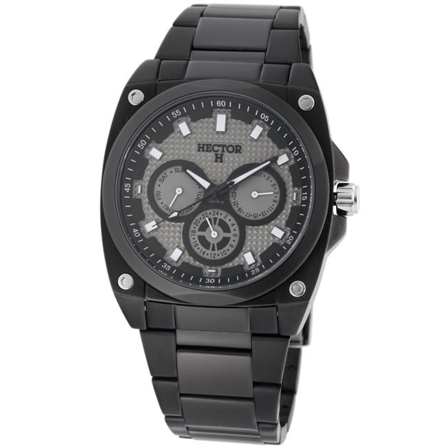 Hector H France Men's 'Fashion' Black Multifunction Watch
