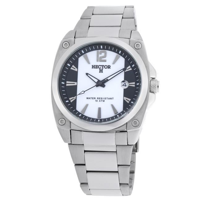 Hector France Men's 'Fashion' Black and White Quartz Watch