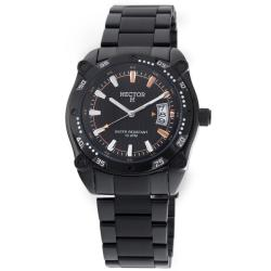 Hector H France Men's 'Fashion' Black Stainless-Steel Water-Resistant Watch