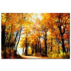 Lois Bryan 'Fall Scene' Canvas Art - Thumbnail 2