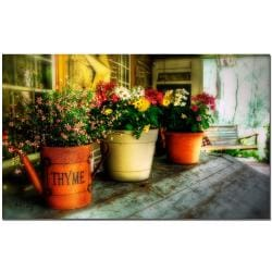 Lois Bryan 'The Porch Swing' Traditional Canvas Art - Thumbnail 1