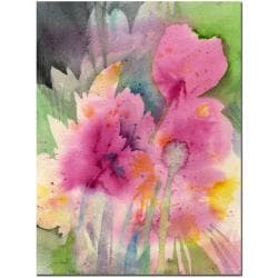 Sheila Golden 'Mauve Garden' Canvas Art