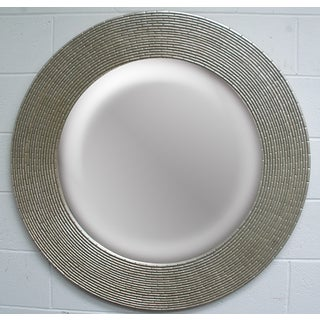 Round Framed Silver Wall Mirror