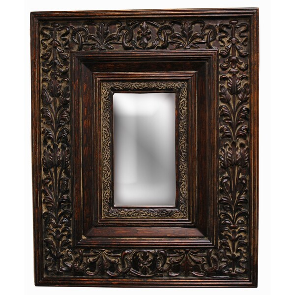 Shop Rectangular Framed Gold Patina Wall Mirror Free