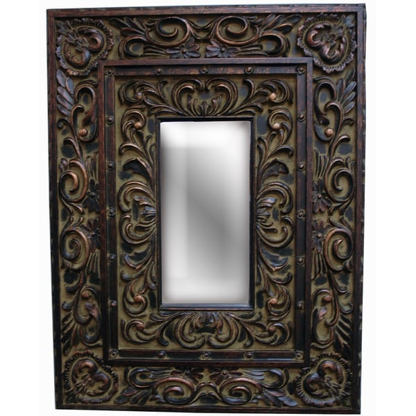 Rectangular Old Black Gold Traditional Wall Decor Piece