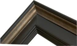 Rectangular Framed Rustic Espresso Wall Mirror