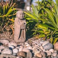 Handmade Stone Minimalist Jizo Statue