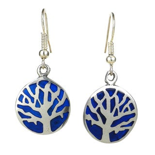 Handmade Silver Tree of Life Earrings (Mexico)