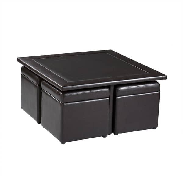 Harper Blvd Crestfield Dark Brown Coffee Table Storage