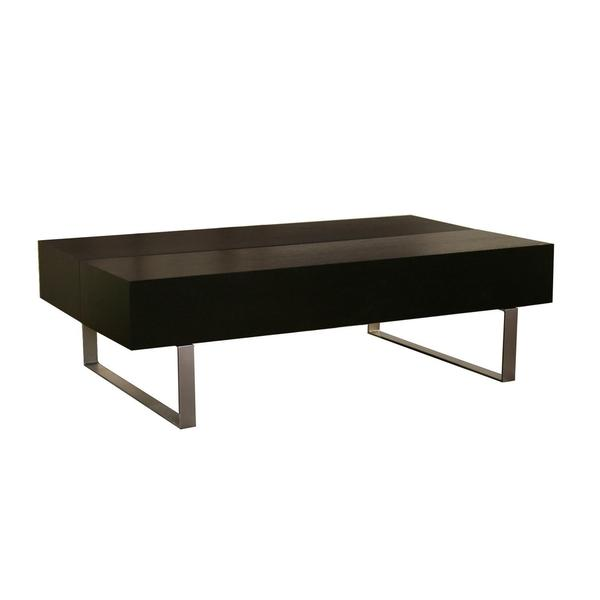 Noemi Black Modern Coffee Table With Storage Compartments Free Shipping Today