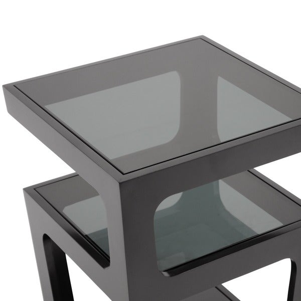 Clara Modern Tall Black 3 Tiered End Table   Free Shipping Today    Overstock.com   13097328
