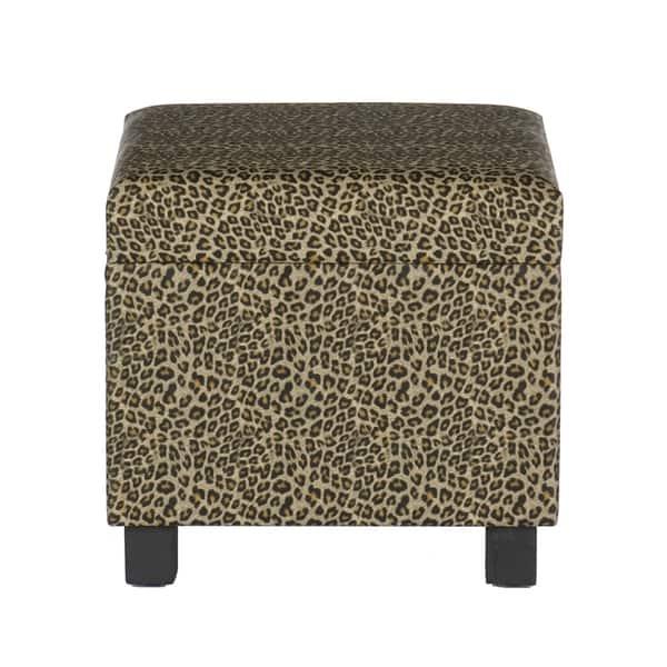 Enjoyable Shop Leopard Faux Leather Storage Ottoman Free Shipping Inzonedesignstudio Interior Chair Design Inzonedesignstudiocom