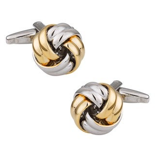 Cuff Daddy Metal Two-tone Knot Cuff Links