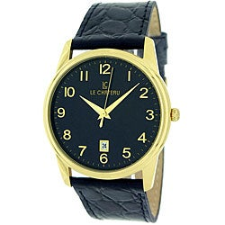 Le Chateau Men's 'Classica' Black Arabic Numeral Watch