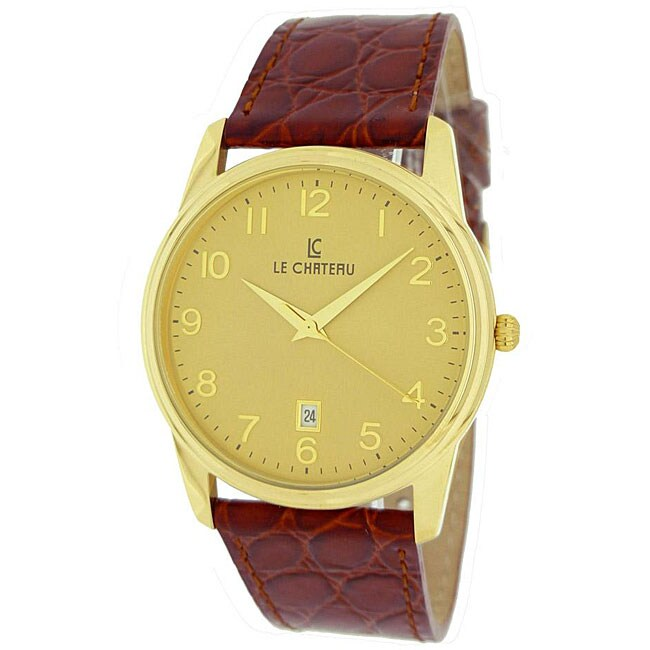 Le Chateau Men's 'Classica' Arabic Numeral Watch