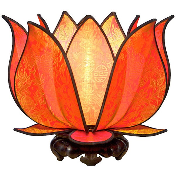 Om Gallery Blooming Citrus Lotus Table Lamp (Vietnam)