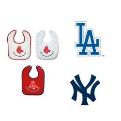 Full Color MLB Teams Body Snap Bibs (Pack of 3) - Thumbnail 1