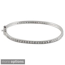 Collette Z Sterling Silver Cubic Zirconia Bangle