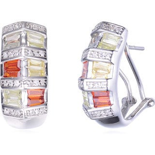 Collette Z Sterling Silver Colored Cubic Zirconia Earrings