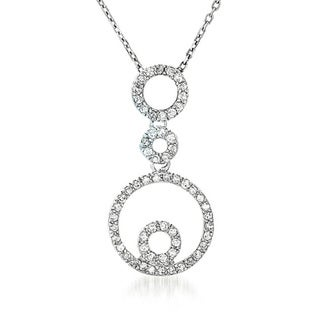 Collette Z Sterling Silver Cubic Zirconia Circle Pendant