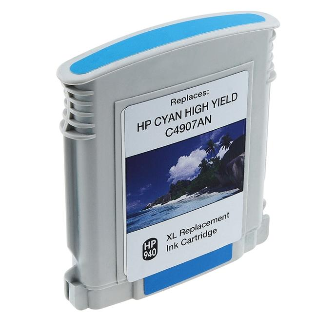 Insten Cyan Ink Cartridge HP 940XL C4907AN/ C4903AN for HP OfficeJet Pro 8000/ 8500 All-in-One
