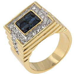 Kate Bissett Brass Men's Cubic Zirconia Fashion Ring - Thumbnail 1