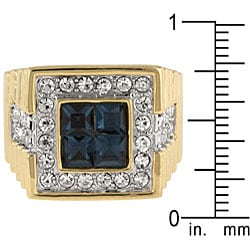 Kate Bissett Brass Men's Cubic Zirconia Fashion Ring - Thumbnail 2
