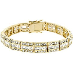 Kate Bissett Goldtone Brass Clear Cubic Zirconia Tennis Bracelet