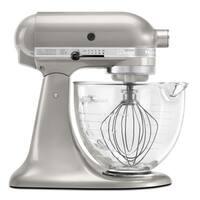 KitchenAid KSM155GBSR Sugar Pearl 5-Quart Artisan Tilt-Head Stand Mixer