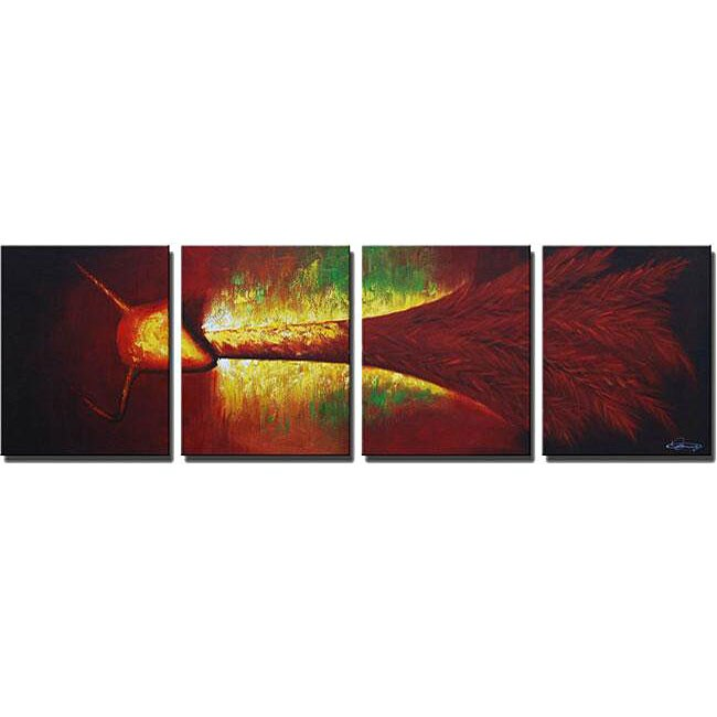 'Abstract Animal Hand Painted' 4-piece Art Set