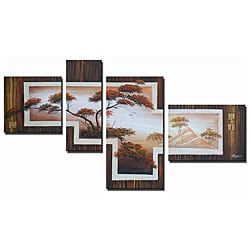 'Safari Steps Hand Painted' 4-piece Art Set