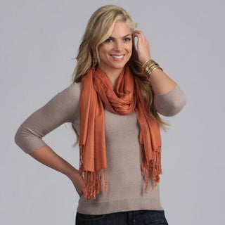Link to Peach Couture Rust Rayon from Bamboo Scarf Similar Items in Scarves & Wraps