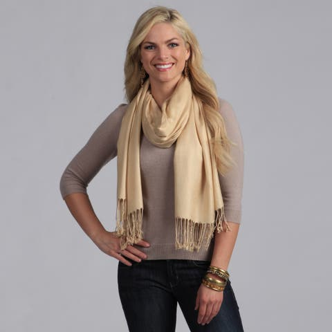 Peach Couture Tan Rayon Scarf